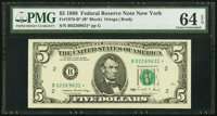 Fr. 1979-B* $5 1988 Federal Reserve Star Note. PMG Choice Uncirculated 64 EPQ
