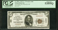 National Bank Notes:Maine, Waterville, ME - $5 1929 Ty. 1 The Peoples National Bank Ch. # 880 PCGS About New 53PPQ.. ...