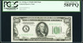 Fr. 2154-A $100 1934B Federal Reserve Note. PCGS Choice About New 58PPQ