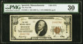 National Bank Notes:Massachusetts, Ipswich, MA - $10 1929 Ty. 1 The First National Bank Ch. # 4774 PMG Very Fine 30.. ...