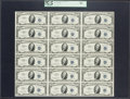 Fr. 1706 $10 1953 Silver Certificates. Uncut Sheet of 18. PCGS Choice New 63