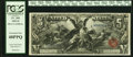 Large Size:Silver Certificates, Fr. 268 $5 1896 Silver Certificate PCGS Extremely Fine 40PPQ.. ...
