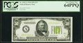 Fr. 2102-A $50 1934 Light Green Seal Federal Reserve Note. PCGS Very Choice New 64PPQ