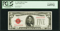Fr. 1528 $5 1928C Mule Legal Tender Note. PCGS Very Choice New 64PPQ
