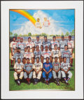 Autographs:Photos, 1995 Negro League Greats Multi-Signed Limited Edition Ron Lewis Lithograph....