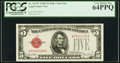 Fr. 1531* $5 1928F Wide I Legal Tender Star Note. PCGS Very Choice New 64PPQ