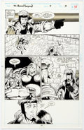 Original Comic Art:Panel Pages, Ron Lim and Keith Aiken Silver Surfer Annual #7 Story Page 11 Original Art (Marvel, 1994)....