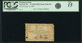 Westerly, RI - Washington Bank in Westerly One Shilling/16 Cents Aug. 22, 1800 Newman page 403, Haxby RI-560 G10, Durand...