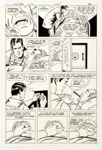 Curt Swan and Dan Adkins Superman #376 Story Page 9 Original Art (DC, 1982)
