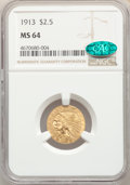 1913 $2 1/2 MS64 NGC. CAC. NGC Census: (958/111). PCGS Population: (919/182). CDN: $800 Whsle. Bid for problem-free NGC/...