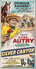 """Movie Posters:Western, Silver Canyon (Columbia, 1951). Folded, Fine/Very Fine. Three Sheet (41"""" X 79""""). Western.. ..."""