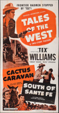 "Movie Posters:Western, Tales of the West (Universal International, 1950). Folded, Overall: Fine+. Three Sheets (2) (41"" X 78.5"" & 41"" X 80"")..."