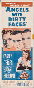 "Movie Posters:Crime, Angels with Dirty Faces (Warner Bros., R-1948). Folded, Fine+. Insert (14"" X 36""). Crime.. ..."