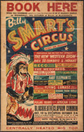 """Movie Posters:Miscellaneous, Billy Smart's Circus (1955). Folded, Fine-. British Circus Poster (12.5"""" X 19.5""""). Miscellaneous.. ..."""