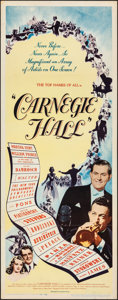 Movie Posters:Musical, Carnegie Hall (United Artists, 1947). Folded, Very Fine-.