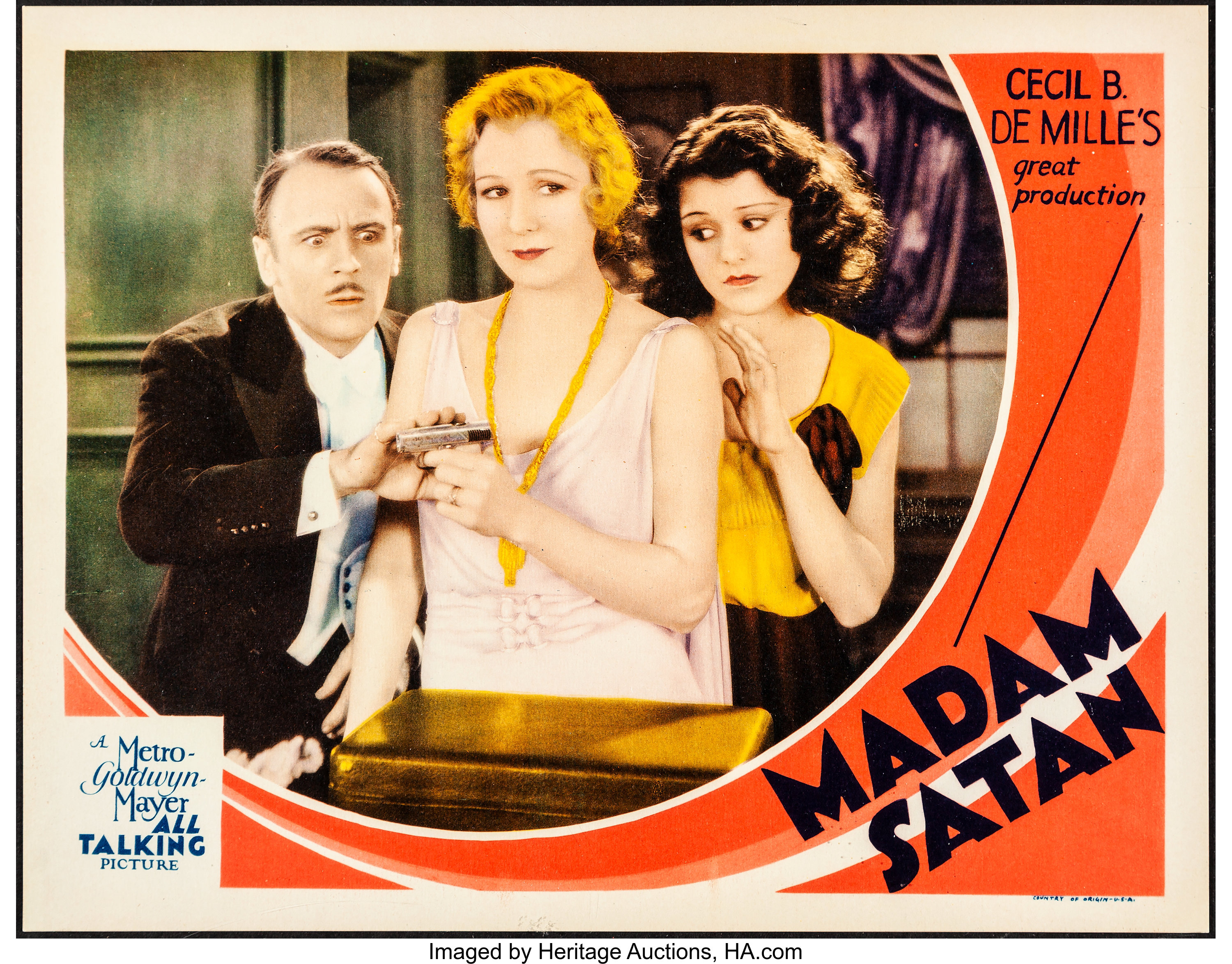 Madam Satan Cecil B DeMille 1930 movie poster print