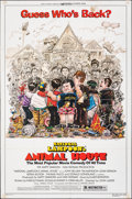 "Movie Posters:Comedy, Animal House (Universal, R-1979/1978). Folded, Overall: Fine. One Sheet (27"" X 41""), Lobby Card Set of 4 (11"" X 14""), & Mini... (Total: 9 Items)"