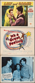 """Movie Posters:War, Hellcats of the Navy & Other Lot (Columbia, 1957). Overall: Very Fine-. Lobby Cards (2) & Title Lobby Card (11"""" X 14""""). War.... (Total: 3 Items)"""