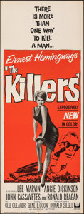 "Movie Posters:Crime, The Killers (Universal, 1964). Folded, Fine/Very Fine. Insert (14"" X 36"") & Lobby Card (11"" X 14""). Crime.. ... (Total: 2 Items)"