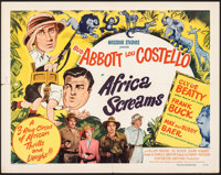 "Africa Screams (United Artists, 1949). Folded, Fine/Very Fine. Half Sheet (22"" X 28""). Comedy"