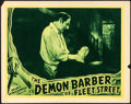 "Movie Posters:Horror, The Demon Barber of Fleet Street (Select Attractions, 1939). Fine/Very Fine. Lobby Card (11"" X 14""). Horror.. ..."