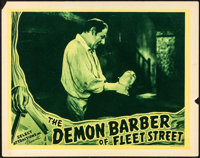 "The Demon Barber of Fleet Street (Select Attractions, 1939). Fine/Very Fine. Lobby Card (11"" X 14""). Horror..."