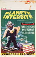 "Movie Posters:Science Fiction, Forbidden Planet (MGM, 1956). Folded, Fine. Belgian (14"" X 22""). Science Fiction.. ..."