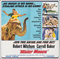 """Mister Moses (United Artists, 1965). Folded, Very Fine. Six Sheet (80"""" X 79""""). Adventure"""