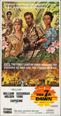 "Movie Posters:Adventure, The Seventh Dawn (United Artists, 1964). Folded, Very Fine. Three Sheet (41"" X 79"") Howard Terpning Artwork. Adventure.. ..."