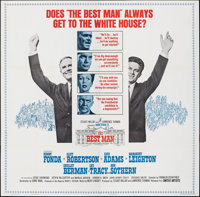 "The Best Man (United Artists, 1964). Folded, Very Fine-. Six Sheet (80"" X 79""). Drama"