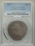 Early Half Dollars, 1805 50C -- Graffiti -- PCGS Genuine. VG Details. NGC Census: (8/277). PCGS Population: (20/643). CDN: $300 Whsle. Bid for ...