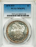 1878 8TF $1 MS63 Prooflike PCGS. PCGS Population: (287/144). NGC Census: (215/101). CDN: $330 Whsle. Bid for problem-fre...