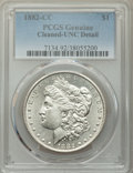 1882-CC $1 -- Cleaning -- PCGS Genuine. Unc Details. NGC Census: (32/18165). PCGS Population: (65/34556). CDN: $205 Whsl...