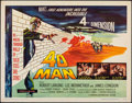 "Movie Posters:Science Fiction, 4D Man (Universal International, 1959). Folded, Very Fine-. Half Sheet (22"" X 28""). Science Fiction.. ..."