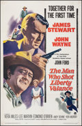 """Movie Posters:Western, The Man Who Shot Liberty Valance (Paramount, 1962). Fine+ on European Linen. One Sheet (27"""" X 41.5""""). Western.. ..."""