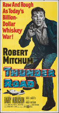 "Movie Posters:Crime, Thunder Road (United Artists, 1958). Folded, Fine. Three Sheet (41"" X 79""). Crime.. ..."