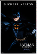 "Movie Posters:Action, Batman Returns (Warner Bros., 1992). Rolled, Very Fine-. Printer's Proof One Sheet (28"" X 41""). SS Advance Batman Style, Joh..."