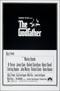 "The Godfather (Paramount, R-1980s). Rolled, Near Mint-. One Sheet (27"" X 41""). S. Neil Fujita Artwork. Crime..."