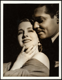 Norma Shearer and Clark Gable in Strange Interlude by George Hurrell (MGM, 1932). Very Fine. Oversize Portrait Photo (10...