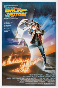 "Back to the Future (Universal, 1985). Very Fine-. One Sheet (27"" X 41"") SS, Drew Struzan Artwork. Science Fict..."