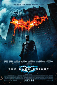 "The Dark Knight (Warner Bros., 2008). Rolled, Near Mint-. International One Sheet (27"" X 40"") DS Advance. Acti..."