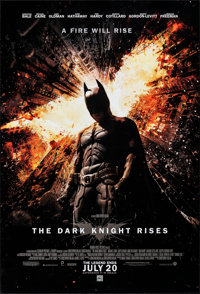 "The Dark Knight Rises (Warner Bros., 2012). Rolled, Very Fine/Near Mint. One Sheet (27"" X 40"") DS Advance. Act..."