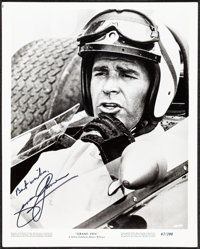 "James Garner in Grand Prix (MGM, 1967). Very Fine-. Autographed Photo (8"" X 10""). Sports"