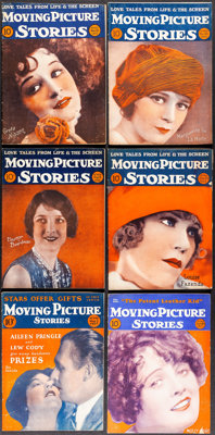 Moving Picture Stories (Harry E. Wolff & Ethel Roseman, 1925-1927). Overall: Fine/Very Fine. Magazines (6) (Mult...