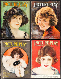"Picture-Play (Street & Smith, 1921-1923). Fine. Magazines (4) (Multiple Pages, 8.75"" X 11.25""). Miscel..."