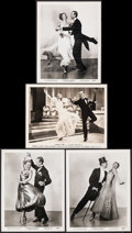 """Movie Posters:Musical, Fred Astaire and Ginger Rogers in Swing Time & Other Lot (RKO, 1936). Very Fine-. Photos (4) (8"""" X 10""""). Musical.. ..."""