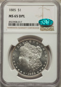 1885 $1 MS65 Deep Mirror Prooflike NGC. CAC. NGC Census: (195/58). PCGS Population: (350/104). CDN: $950 Whsle. Bid for...