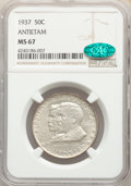 1937 50C Antietam MS67 NGC. CAC. NGC Census: (183/17). PCGS Population: (386/22). CDN: $780 Whsle. Bid for problem-free...
