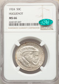 Commemorative Silver, 1924 50C Huguenot MS66 NGC. CAC. NGC Census: (305/52). PCGS Population: (433/75). CDN: $325 Whsle. Bid for problem-free NGC...