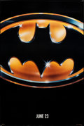 "Movie Posters:Action, Batman (Warner Bros., 1989). Rolled, Very Fine+. One Sheet (27"" X 40.5"") SS Advance. Action.. ..."